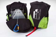 The SkySaver emergency rescue backpack has made escaping a high-rise building easier than ever. This self-contained pack makes rappelling user-friendly.