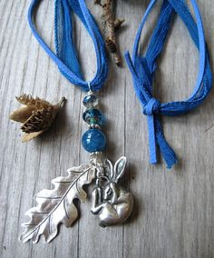 Sleeping Hare & Oak Leaf Pendant by WillowTreefoxDesigns on Etsy, £33.00. Sold