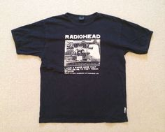 Radiohead  Kid A  Official WASTE  Fast Track   T-Shirt - Black Large