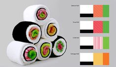 Fun and functional ~ Sushi towels.