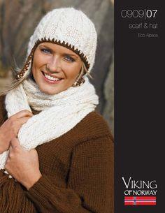 Eco Alpaca Scarf & Hat – 0909-07 | Knitting Fever Yarns & Euro Yarns