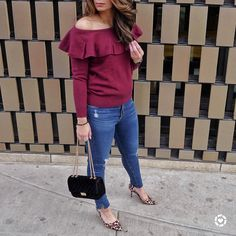 """991 Likes, 75 Comments - Blogger • Aliya (@stylebyaliya) on Instagram: """"I absolutely adore this off the shoulder sweater from @bananarepublic! It's so perfect for the…"""""""