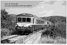Gare De Carnoules , Var , Autorail Caravelle X-4567 De L'ATTCV - Une Photo…