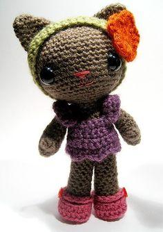 Tara the cat crochet pattern di sarsler su Etsy