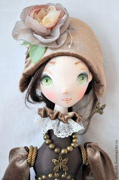 Bambole da collezione fatte a mano.  Fiera Masters - i sogni fatti a mano dell'infanzia.  Fatto a mano.