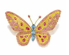 Sensational Fancy Colored Diamond 'Butterfly' Brooch, Carvin French