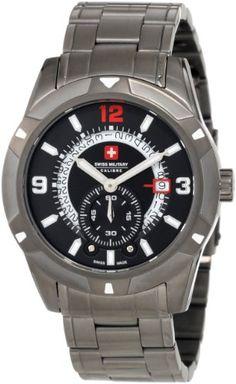 Swiss Military Calibre Men's 06-5R5-04-007 Revolution Grey IP Black Dial Steel Date Watch