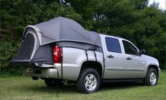 OEM Napier Avalanche Truck Tent fits all Chevy Avalanches Sleep high and dry and off the cold, dirty ground. This is the famous Chevy Avalanche bed tent. Top of the line tents. Truck Tailgate, Truck Camping, Camping Hacks, Camping Gear, Camping Tools, Van Camping, Family Camping, Tent Camping Beds, Hiking Tent