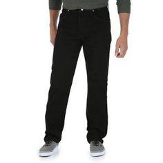 Wrangler Big Men's Regular Fit Jeans, Size: 48 x 30, Black