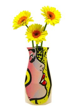 """Fabulous and colorful Expandable Flower Vase. No assembly required. Just add water to expand.    Measures 10"""" high by 6"""" flowers not included   Expandable Flower Vase  by Patricia's Presents. Home & Gifts - Home Decor - Vases Ridgefield, Connecticut"""