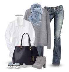 Grey Skies by archimedes16 on Polyvore featuring polyvore, fashion, style, Old Navy, Uniqlo, True Religion, Prada, London Fog, Sarah Kosta, Nomad and Retrosun