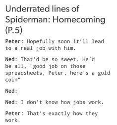 Lol. Ned and Peter. CAN WE ALL JUST TAKE A SECOND TO APPRECIATE NED!