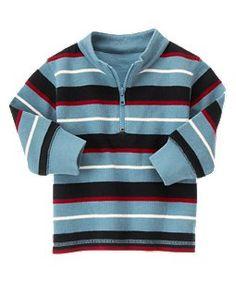 Multi Stripe Half Zip Pullover