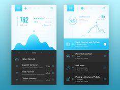 Mobile, app, bright, dark, colors, minimalistic, icons, graphics, typographics