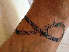 Country girl camo infinity tattoo <3