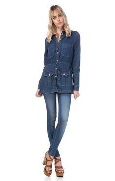 Demais não  ??   Calça Jeans Pala Arredondada  COMPRE AQUI!  http://imaginariodamulher.com.br/look/?go=2elRYmp