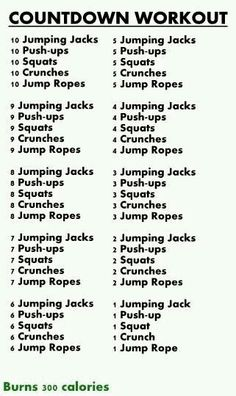 Count down workout