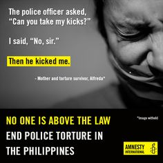 End police torture in the Philippines - Amnesty International Australia