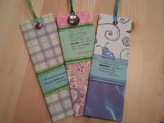 Homemade bookmarks