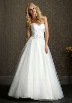 Organza Princess Sweetheart Sleeveless Floor-length With Embroidery Wedding Dress picture 1
