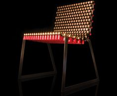Fully Loaded #Chair has seating and backrest loaded with 388 12 gauge shotgun shells http://po.st/1T0yck