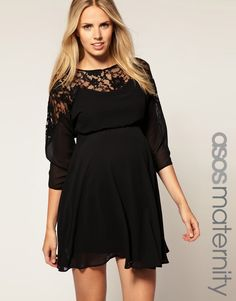 maternity dress... With cap sleeves or sleeveless, Id totally wear this