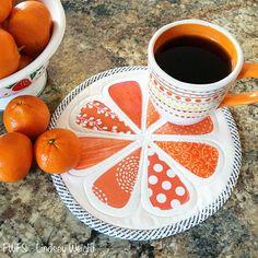 Orange You Glad Mug Rug | You'll get a slice of heaven with this mug rug