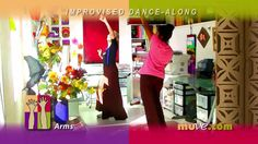 Easy Dance Exercises at Work or Home - Free Desktop Stress Reliever for small spaces. Song: Big Band