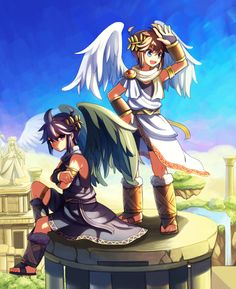 Pit and Dark Pit 2 by Wusagi2 on DeviantArt