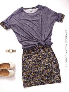 LuLaRoe outfit - Irma tunic over a Julia dress! #flatlay