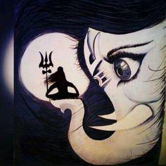 load shiva with Ganesh draw beautiful sketch step by step? Ganesha Sketch, Lord Shiva Sketch, Ganesha Drawing, Lord Ganesha Paintings, Lord Shiva Painting, Ganesha Art, Krishna Painting, Ganesh Tattoo, Arte Shiva
