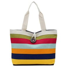 Cheap tote purse, Buy Quality canvas bag tote directly from China bag tote Suppliers: 2017 Environmentally friendly shopping bag women Lady Colored stripes Shopping Handbag Shoulder Canvas Bag Tote Purse - Canvas Shopper Bag, Canvas Tote Bags, Canvas Purse, Canvas Handbags, Shopper Tote, Rainbow Bag, Rainbow Candy, Bag Women, Bags Travel
