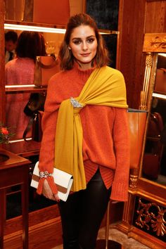 Olivia Palermo attends an Aspinal event at the Aspinal store at 16 Regent Street St James on February 19, 2018 in London, England.