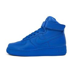 "Nike Wmns Air Force 1 Hi ""Color Pack"" (university blue) ❤ liked on Polyvore featuring shoes"