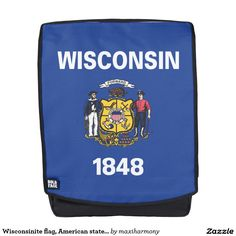 Wisconsinite flag, American state flag Backpack