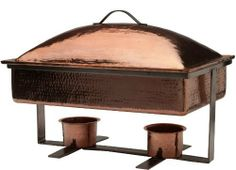 Sertodo Syracuse Chafer, 8 Quart Rectangular Domed Chafer, Hammered Copper by Sertodo Copper. $1553.85. Fits all standard 8 quart food pans and half pans; food pan not included. Pure copper from 100% recycled sources for a better environment. Heavy gauge hammered copper, stainless steel base and handles, incredibly durable, wears use and abuse superbly. Unique style and superior quality; beautiful service that lasts for generations. Hammer Polish beats shine, beauty and durabilit...