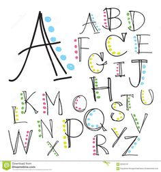 Illustration about Black colorful alphabet uppercase letters.Hand drawn written with a soft watercolor paint brush chalk pencil. Illustration of language, background, alphabet - 63342137 Hand Lettering Alphabet, Doodle Lettering, Lettering Styles, Brush Lettering, Brush Font, Lettering Ideas, Fun Fonts Alphabet, Letter Fonts, Simple Lettering