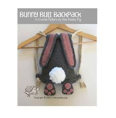 Bunny Butt Backpack  Instant Download PDF CROCHET PATTERN