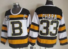 """$34.88 at """"MaryJersey""""(maryjerseyelway@gmail.com) Bruins 33 Zdeno Chara White CCM Throwback 75TH Stitched NHL Jersey"""