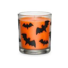 Favorite fall fragrance is presented in a spooky, bat-motif glass jar. Highly fragranced Halloween Night wax fills the air with the scent of rich butterscotch, vanilla and spice. Burn time: 30-40 hours. 3 1/4