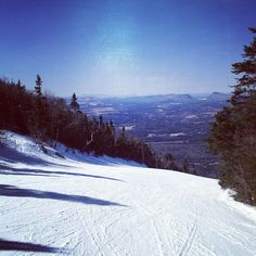 Perfect day of skiing to end off the season #burkemountain #spring #skiing  3d