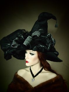 Black and Silver Couture Witch Hat?!  I mean, if you're going to wear one anyway....