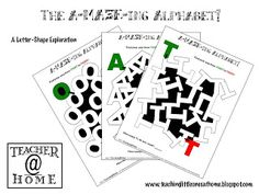 A-MAZE-ING Alphabet Printables - What a great idea to familiarize preschoolers with the shape of letters!