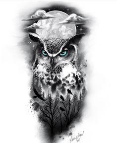 Lion Tattoo Sleeves, Wolf Tattoo Sleeve, Tattoo Sleeve Designs, Sleeve Tattoos, Eagle Tattoos, Wolf Tattoos, Animal Tattoos, Body Art Tattoos, Realistic Owl Tattoo