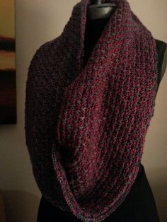 Brick Road Cowl. Such a fun knit and two skeins and a little less wide will work this up into a nice cowl too...