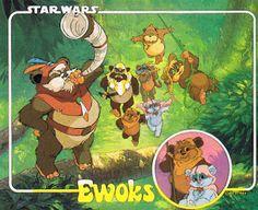 Eu escrevo para robôs: Ewoks (desenho)