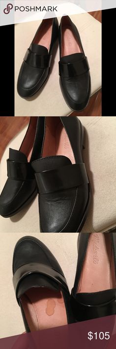 Madewell Elin loafer -only try it on at home  -almost new - small stain on the right shoe -size 7.5 Madewell Shoes Flats & Loafers
