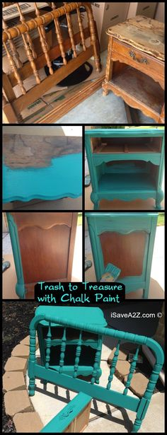 Trash to Treasure with Homemade Chalk Paint