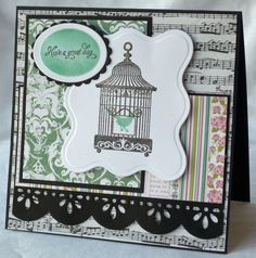 Scraps of Life: Have a Great Day!  Love her mix of patterned papers!