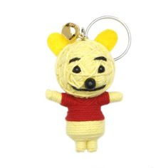God of Thunder, the Creator and the Gold Star Doll Crafts, Yarn Crafts, Diy Voodoo Doll Keychain, Diy Yarn Dolls, String Voodoo Dolls, Pooh Bear, Fairy Dolls, Nerd Stuff, Keychains